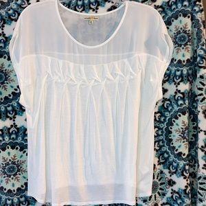 Sheer shoulder lightweight t shirt